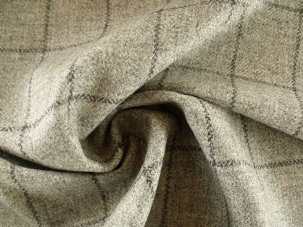 Country Tweed Windowpane Check Fabric AC84